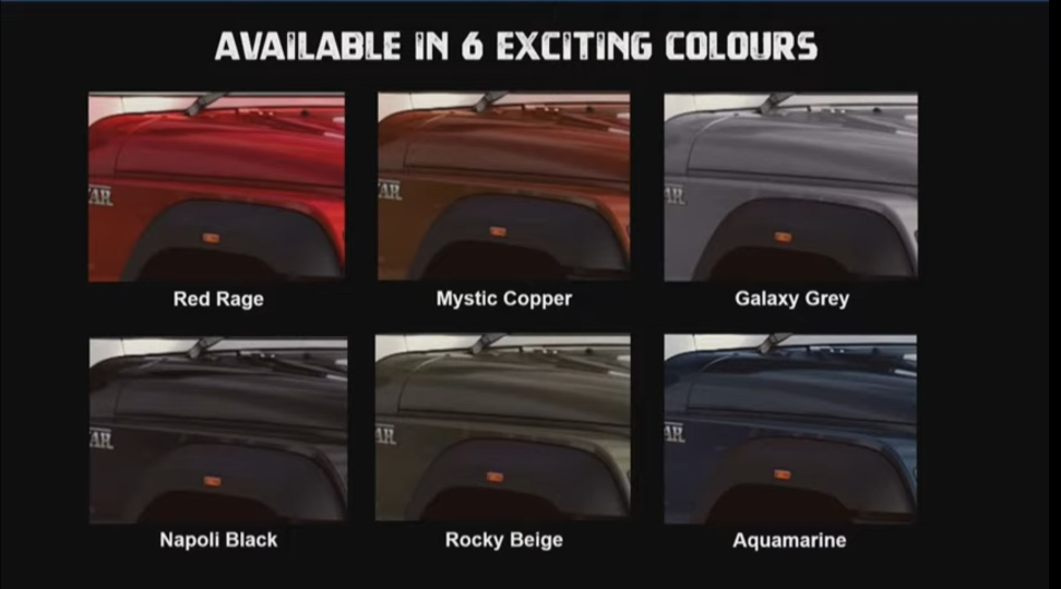 Mahindra Thar 2020 Colours